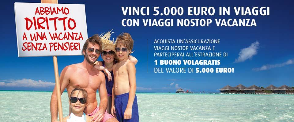Acquista un`assicurazione viaggi con Europ Assistance e vinci 5.000 euro in viaggi! Dal 9 luglio al 9 settembre 2013