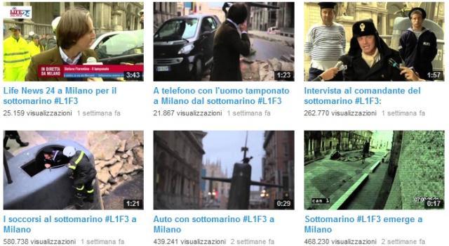 I video del sottomarino emerso a Milano - il canale Youtube di Europ Assistance Italia